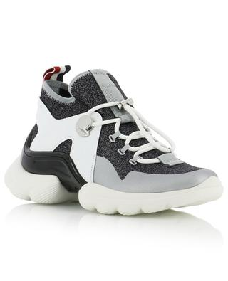 Thelma leather and knit sneakers MONCLER