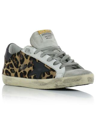 Sneakers aus Leoparden-Kalbshaarleder und Wildleder Superstar GOLDEN GOOSE