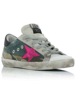 Superstar camouflage canvas sneakers with neon star GOLDEN GOOSE