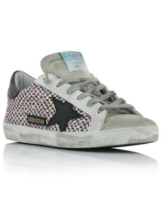 Superstar used look iridescent fabric and suede sneakers GOLDEN GOOSE