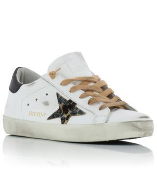Baskets en cuir étoile poulain léopard Superstar GOLDEN GOOSE
