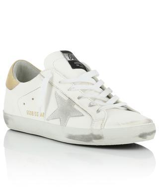 Weisse Ledersneakers mit grauem Wildlederstern Superstar GOLDEN GOOSE