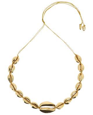 Goldene Muschel-Halskette Mega Puka Shell TOHUM