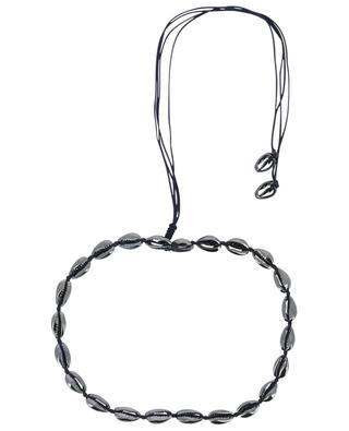 Small Puka Shell blue cord necklace TOHUM