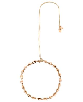 Small Puka Shell pink gold cord necklace TOHUM