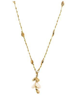 Lange Kordel-Halskette mit Muscheln Puka Shell TOHUM