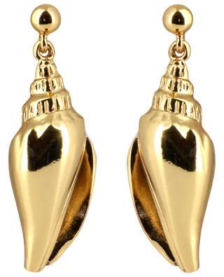 Colubra shell adorned stud earrings TOHUM
