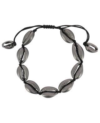 Puka Medium Gunmetal cord bracelet TOHUM