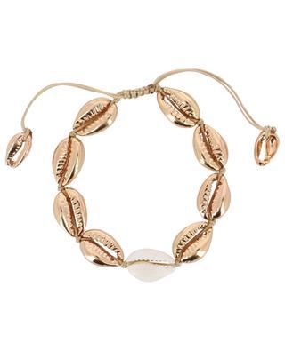 Rosévergoldetes Armband mit Kaurischnecke Puka Medium TOHUM