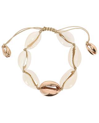 Large Puka kauri shell bracelet with pink gold TOHUM