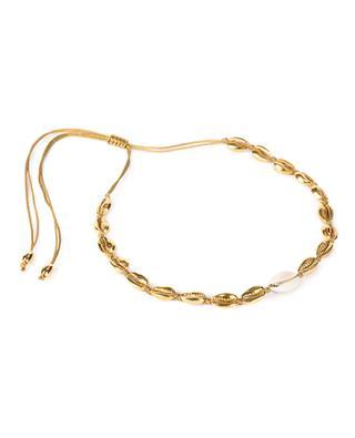 Goldene Halskette mit Kaurischnecke Medium Puka TOHUM