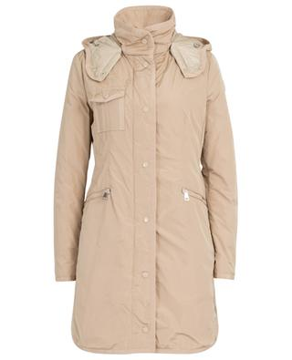 Mauve technical fabric parka with hood MONCLER
