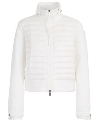 Sweat jacket with down yoke and zippered cuffs MONCLER