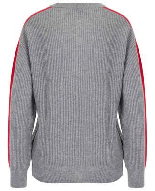 Pull col rond en laine à rayures texturées BONGENIE GRIEDER