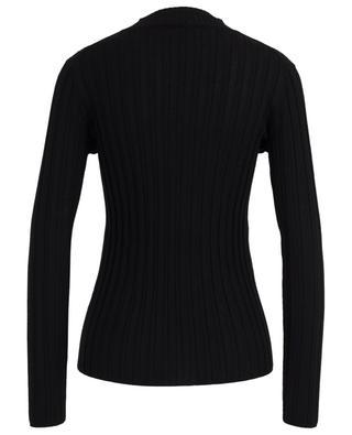 Thin rib knit sheath jumper with mock collar BONGENIE GRIEDER