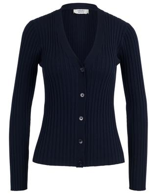 Lightweight fitted rib knit cardigan with V-neck BONGENIE GRIEDER