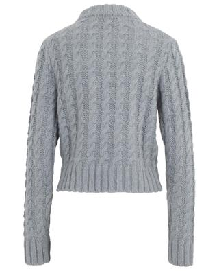Cropped wool and alpaca cable knit jumper BONGENIE GRIEDER