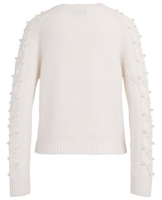 Cable knit cashmere jumper adorned with beads BONGENIE GRIEDER