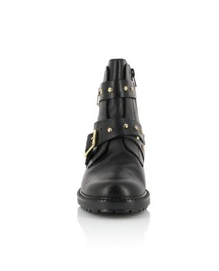 Stinger grained leather biker spirit ankle boots KURT GEIGER LONDON