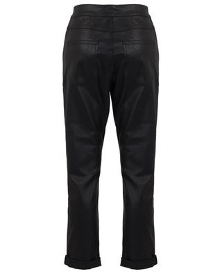 Boyfriend fit jeans with asymetrical waist and shiny finish DOROTHEE SCHUMACHER