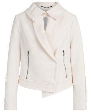 Sophisticated Perfection biker spirit crepe jacket DOROTHEE SCHUMACHER
