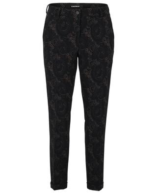 Stella paisley printed straight-fit crepe trousers CAMBIO