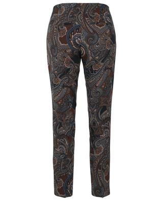 Ros paisley print slim fit crepe trousers CAMBIO