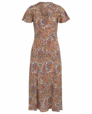 Paisley printed crêpe dress with cowl neckline ETRO