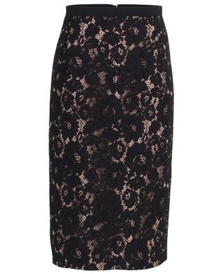 Viscose blend pencil skirt with lace insert N°21
