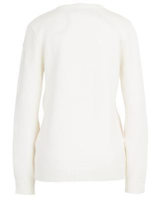 Pull tricot col rond avec inserts en dentelle N°21