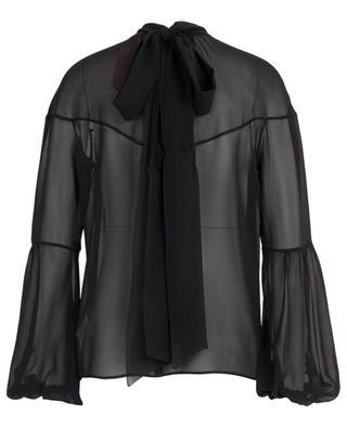 Sheer silk blouse N°21
