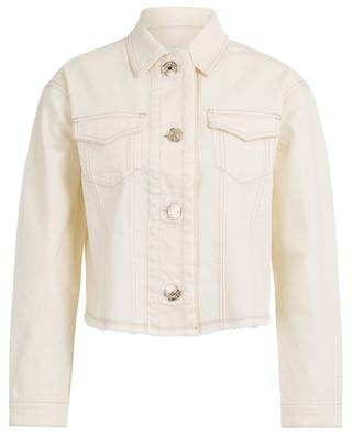 New Vanilla frayed denim jacket 7 FOR ALL MANKIND