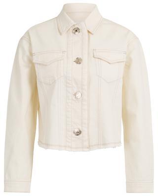 New Vanilla frayed denim jacket 7 FOR ALL MANKIND