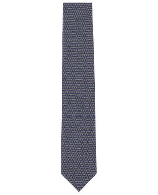 Diamond print tie and pocket square set BRIONI