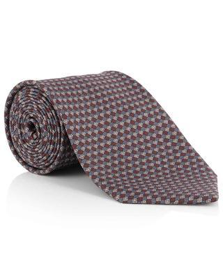 Set aus Krawatte und Einstecktuch mit Rautenprint BRIONI