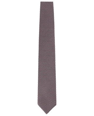 Diamond print tie and pocket square set BRIONI