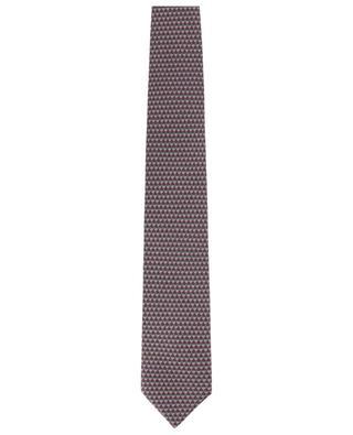Coffret cravate et pochette imprimés losanges BRIONI