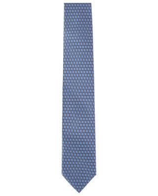 Set aus Krawatte und Einstecktuch Motiv Kette BRIONI