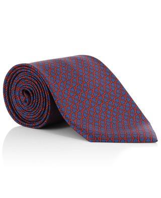 Twill-Krawatte mit Netzprint BRIONI