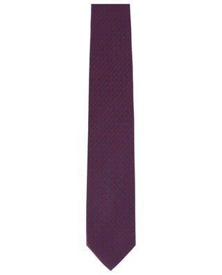Cravate en sergé imprimée résille BRIONI