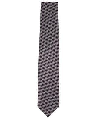 Cravate en soie imprimée motif dés effet 3D BRIONI