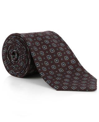 Cravate en laine et soie imprimées BRIONI