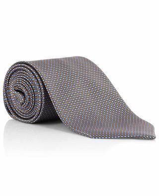 Cravate en soie imprimée cercles et carrés BRIONI