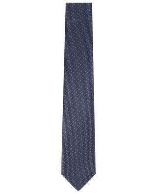 Cravate en soie imprimée diagonales BRIONI