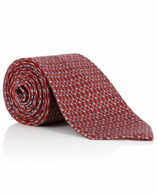 Cravate texturée imprimée de fleurs BRIONI