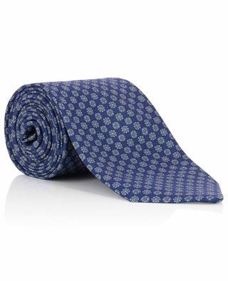 Cravate texturée en soie imprimé graphique BRIONI