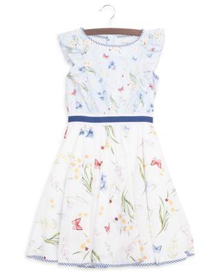 Fantasia sleeveless bicolour floral dress MONNALISA