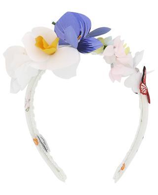Headband embellished with fabric flowers MONNALISA