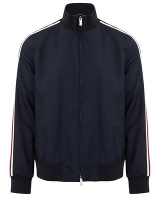 Striped wool and mohair blend bomber jacket VALENTINO