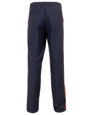 Pantalon slim en laine et mohair orné de bandes latérales VALENTINO